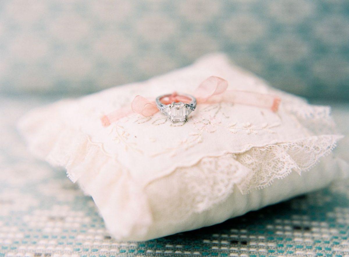 Beverly Clark's English Garden Ring Pillow